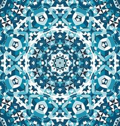 blue crystal kaleidoscope pattern vector image