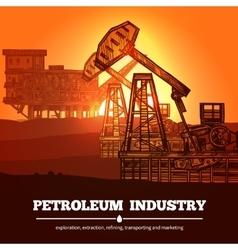 Petroleum industry design concept vector