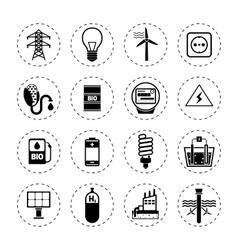 Alternative Energy Icons Black vector image vector image
