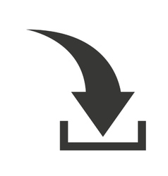arrow download symbol isolated icon vector image vector image