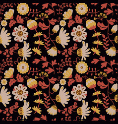 Beauty flowers seamless pattern vector