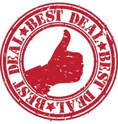 Best deal stamp vector image