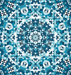 blue crystal kaleidoscope pattern vector image