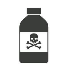 bottle poison chemical danger skull bone vector image