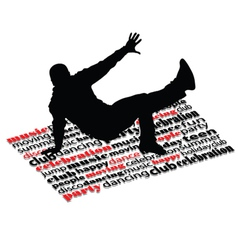 break dance man on word vector image