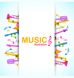 Bright music concept vector