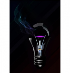 broken light bulb vector image vector image