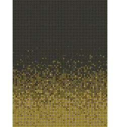 bubble gradient pattern in green brown and yellow vector image