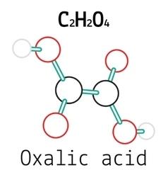 C2H2O4 Oxalic acid molecule vector image vector image