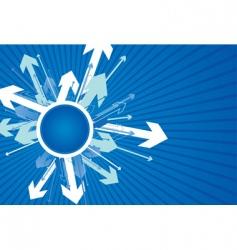 circle strips vector image