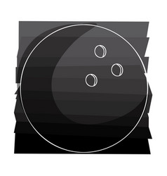 color background with bowling ball with white vector image