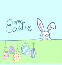 easter rabbits card vector image vector image