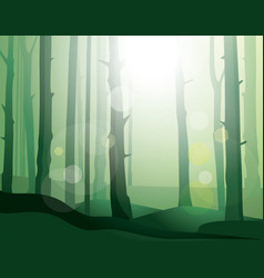 Enigmatic forest vector