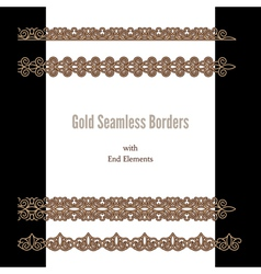 Gold borders vector