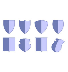 Heraldic escutcheons for coat of arms set shield vector