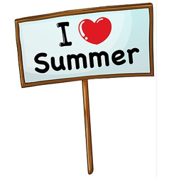 I love summer vector image vector image