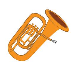 Isolated tuba instrument vector