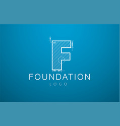Logo template letter f in the style of a vector
