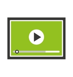 Media player isolated icon design vector