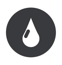 Modern gray circle icon vector