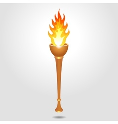 Olympic vintage torch vector image