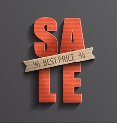 Sale with best price banner vector