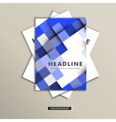 Set brochures with background of squares eps vector