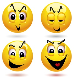 smiley characters vector image vector image