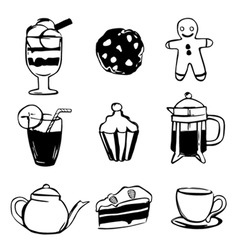 sweet drink design elements vector image vector image