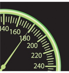 vector illustration of a speedometer vector image vector image