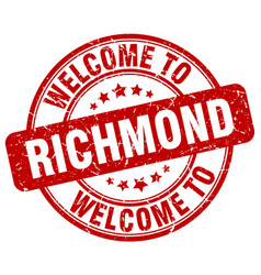 welcome to richmond vector image