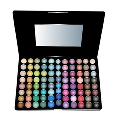 Eye shadow cosmetic set vector