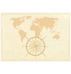 Vintage word map vector