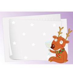 Paper sheets and a reindeer vector