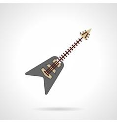 Rock guitar flat color icon vector