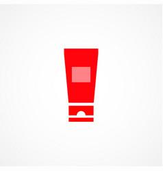Cream tube icon vector