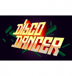 Disco dancer t-shirt design vector