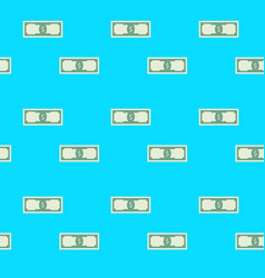 seamles pattern with dollar bill vector image