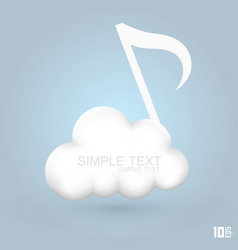 Cloud melodies vector