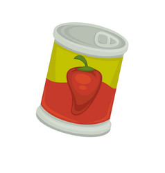 can with preserved peppers vector image