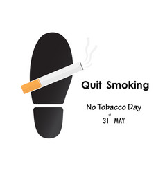 shoe printsfoot prints and quit tobacco vector image