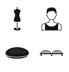 Mannequin boy and other web icon in black style vector