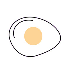 Fried egg isolated icon vector