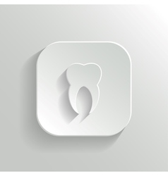 Tooth icon - white app button vector