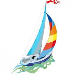 Sail yacht vector