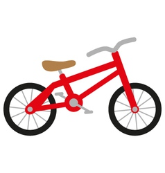 Red bike vector