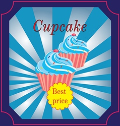 banner for the Cafe with a few muffins vector image
