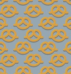Pretzel seamless pattern beer snack background vector