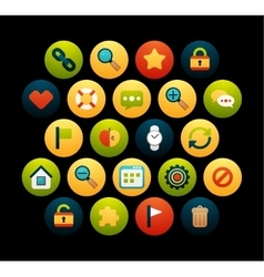 Flat icons set 1 vector