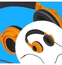 Headset audio isometric vector